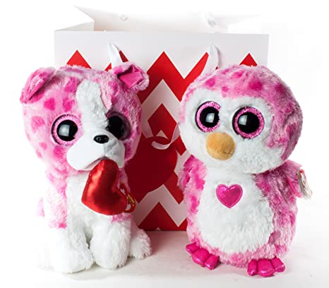 e07ccbf4ba6 Amazon.com  Valentine 2018 Bundle Gift Pack TY Romeo and Juliet 9 inch Beanie  Boo Set Ready to Give in Gift Bag  Toys   Games