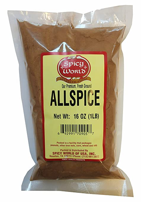 Spicy World Allspice Ground 16 Ounce - Huge 1LB Value Pack