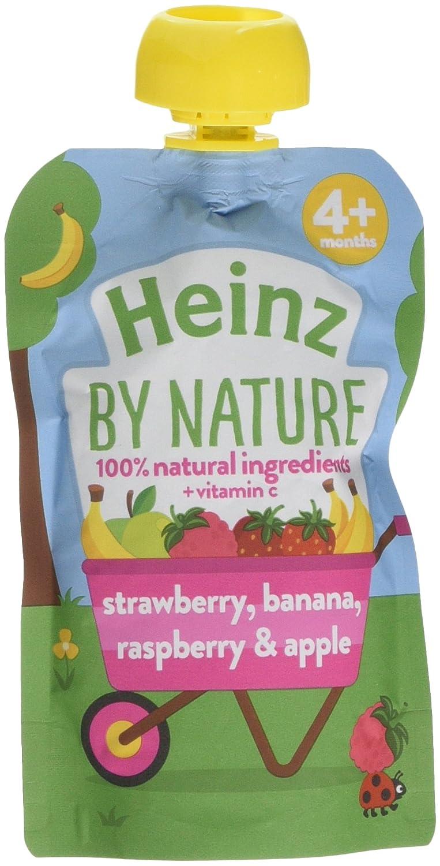 Heinz Strawberry Raspberry and Banana Fruit Puree, 100 g (Pack of 6) The Kraft Heinz Company 76011087