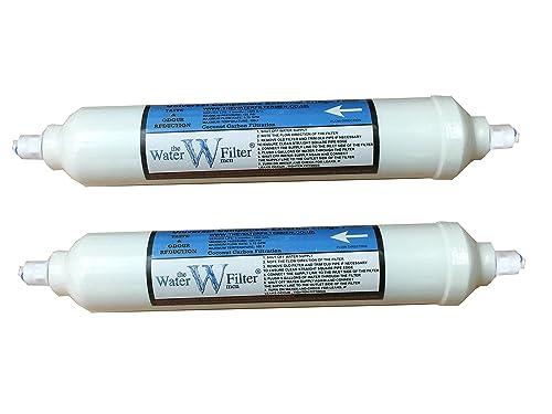 Fridge Water Filters Compatible GE , LG , Samsung , Daewoo , Bosch External Inline Filters Quickfit Pushfittings 2 PACK