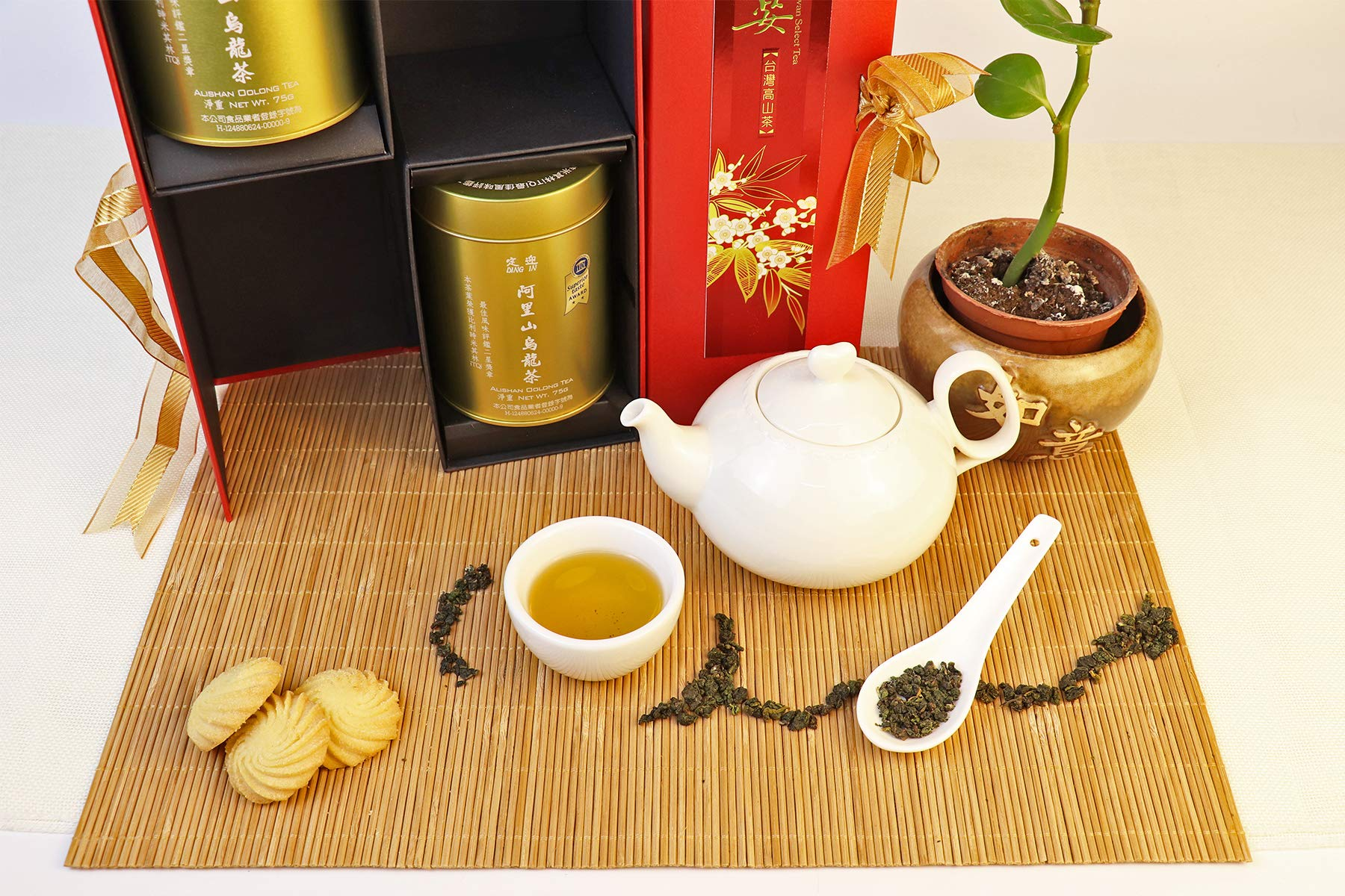 DING IN Alishan Oolong Tea Feast Straight Gift Box 75g/2cans by Ding In ltd. (Image #3)
