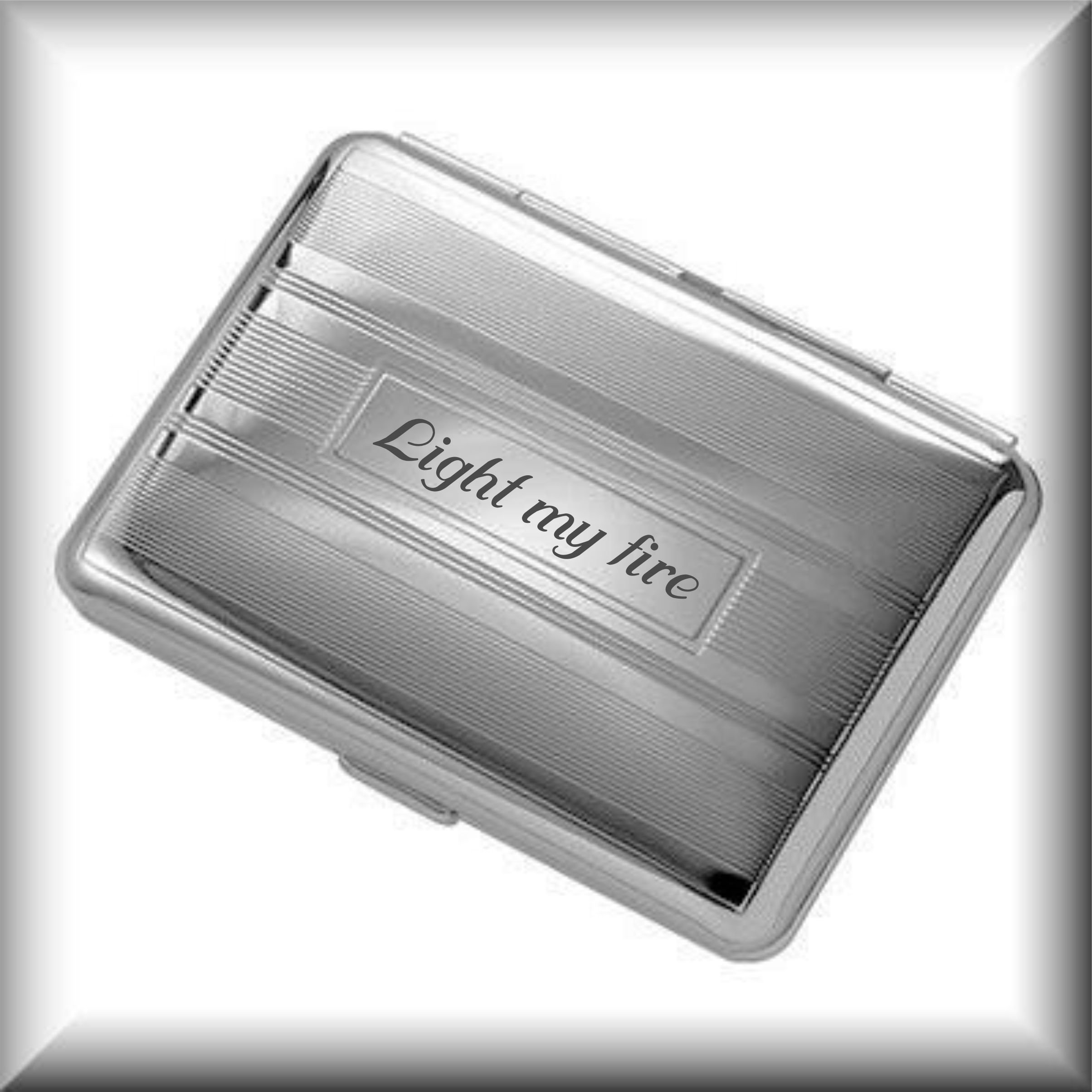 Personalized Silver Cigarette Case Engraved Free