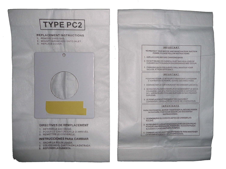 Amazon.com - 1/2 Case (25 pkgs) Sharp PC-2 Canister Allergen Vacuum Cleaner Bags EC-10PC2 EC-05PC2 EC-PC4 EC-6312P EC7314P -