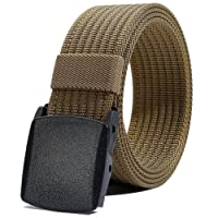 LionVII Men Nylon Belt Tactical Military with Plastic Buckle