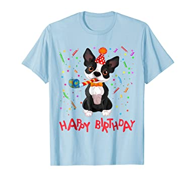 Mens Happy Birthday Dog T Shirt