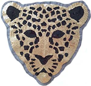 ESH7 1PCs Cute Cartoon Monkey Pattern Reversible Sequins Sew On Patches DIY Crafts Coat Sweater Reversible Patch Applique