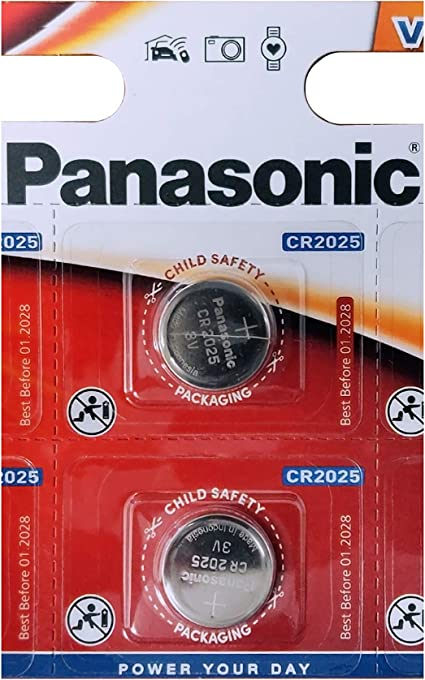 Panasonic Cr2025 Lithium Knopfzelle 3 V Elektronik