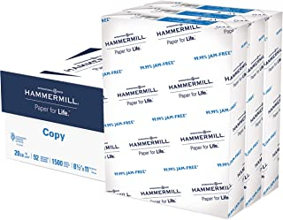 product image for Hammermill Printer Paper, 20 lb Copy Paper, 8.5 x 11 - 3 Ream (1,500 Sheets) - 92 Bright, Made in the USA