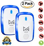 Ultrasonic Pest Repeller - Electronic mice repellent, insect repellent, Pest Control with Night Light [2 Pack] by MEER