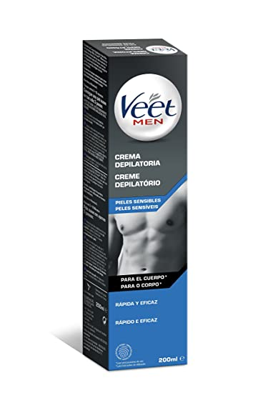 Veet Sensitive Skin Mens Depilatory Cream 200ml