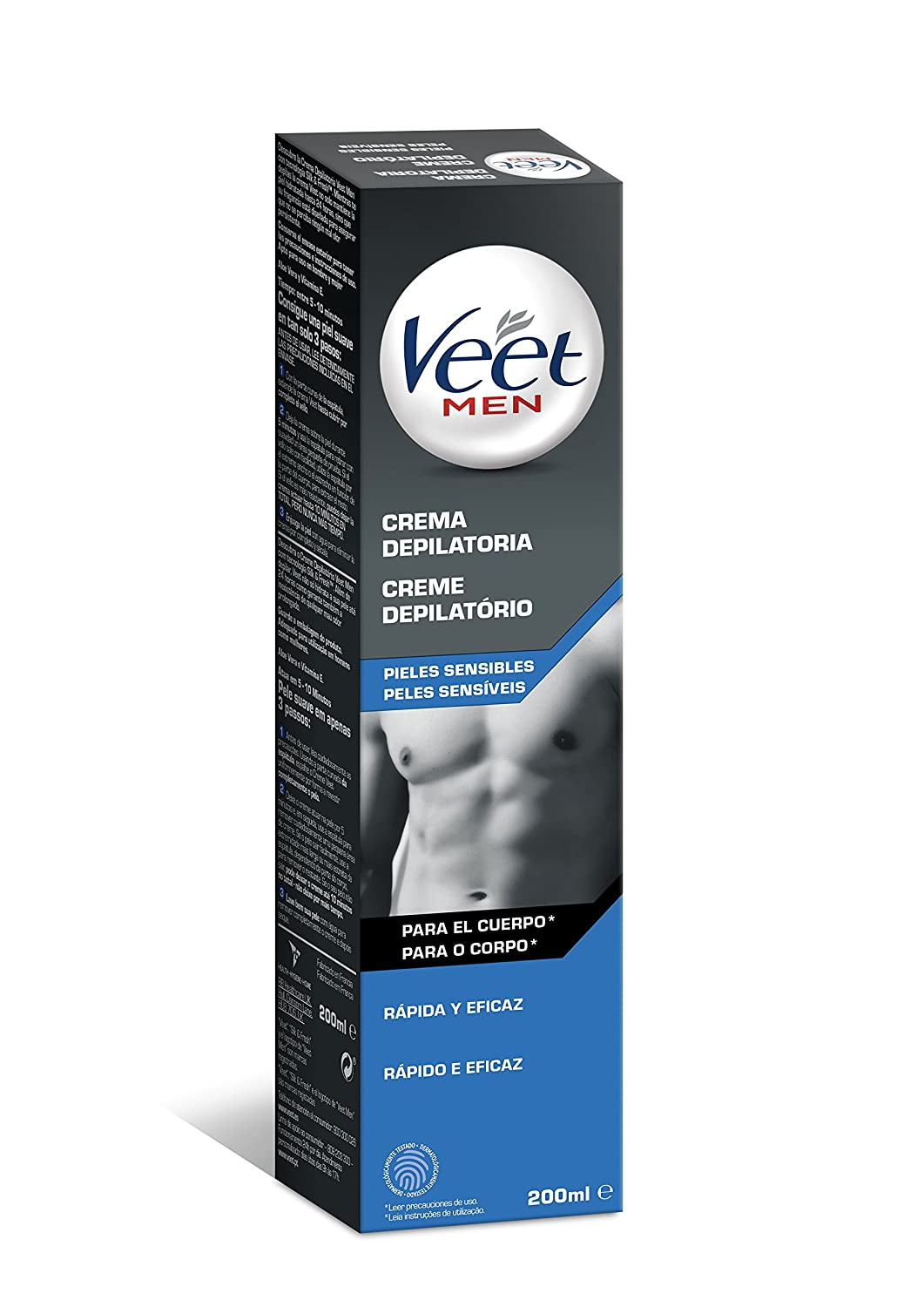 Amazon.com: Veet Sensitive Skin Mens Depilatory Cream 200ml ...