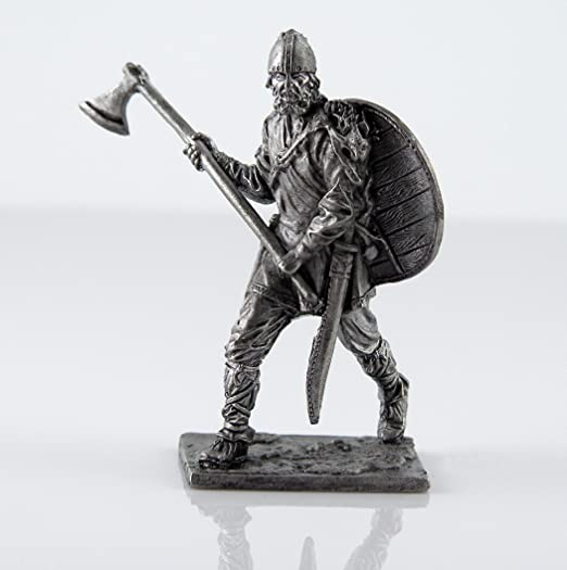 Tin toy soldiers scale 1//32 miniature figurine by Tin Warriors Viking 10 century metal sculpture Collection 54mm