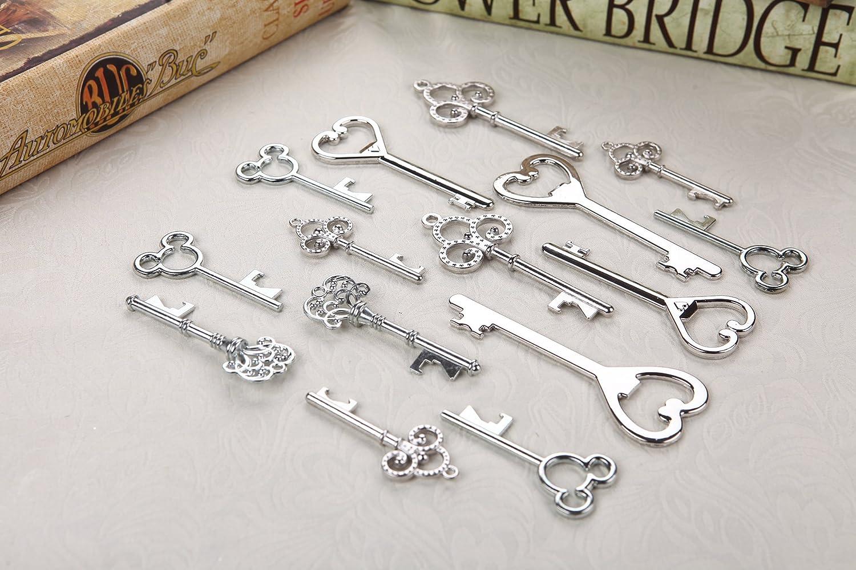 Amazon.com: Assorted Skeleton Key Shaped Bottle Openers Wedding ...