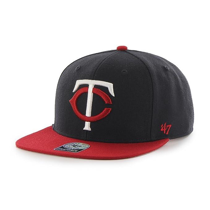 huge discount 3f09e 04597 Amazon.com    47 MLB Atlanta Braves Sure Shot Two Tone Captain Adjustable  Snapback Hat, One Size, Navy   Clothing