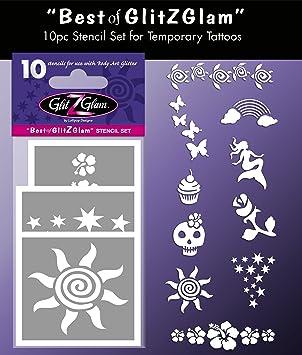Glitzglam Kit De Plantillas Para Tatuajes Temporales Lo Mejor