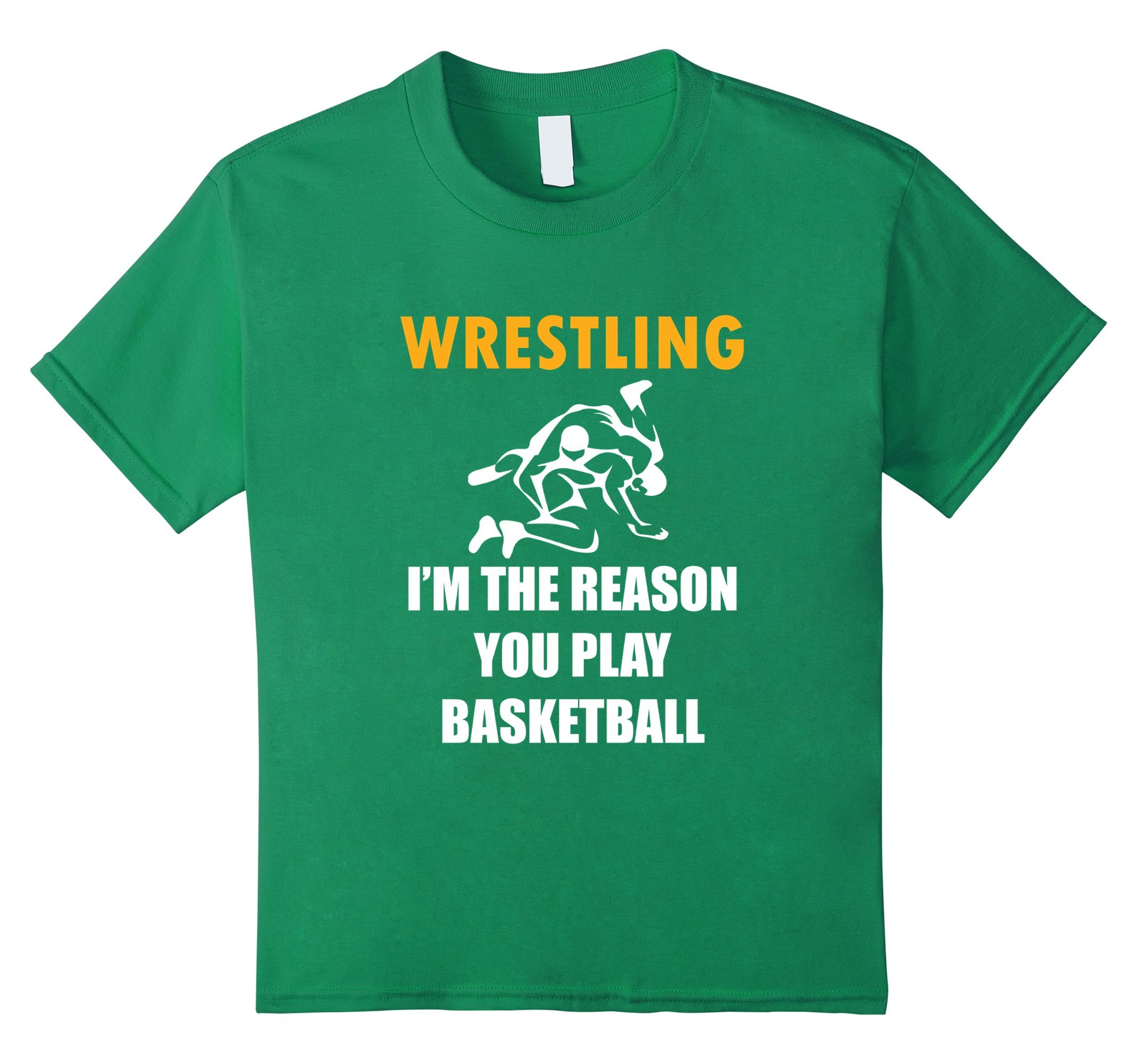 Kids Funny Wrestling Shirt Wrestling i m the reason 10 Kelly Green by Wrestling Apparel
