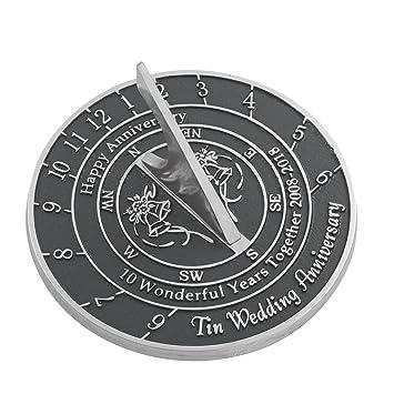 The Metal Foundry 10th Tin Wedding Anniversary 2018 Sundial Gift