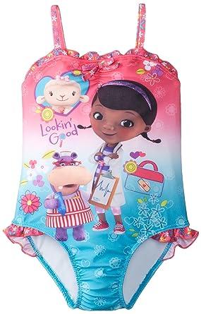 b2f2a6bb2de3b Amazon.com: Disney Little Girls' Doc Mcstuffins One Piece Swimsuit ...