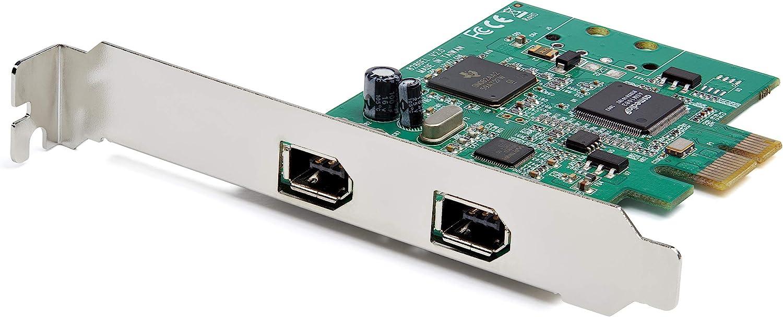 StarTech.com 2 Port PCI Express FireWire Card - 1394a Firewire - TI TSB82AA2 Chipset - Windows & Mac Compatible (PEX1394A2V2)