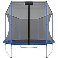 Ultrasport & trampolin.one Outdoor Trampoline, Gartentrampolin, Kindertrampolin, Komplettset inklusive Sprungmatte, Sicherheitsnetz, Randabdeckung, 100kg - 150kg, Ø183 cm - Ø460 cm