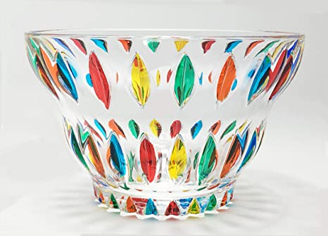 Murano Glass Candy Bowl Hand Painted Made In Italy Home Kitchen