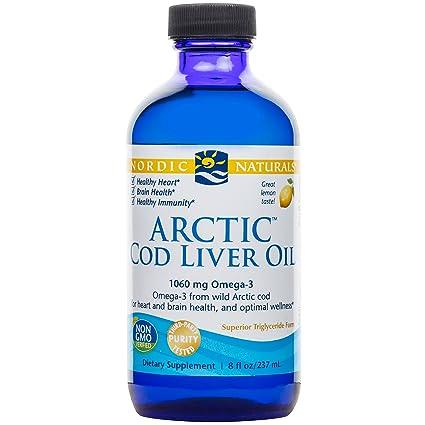 Aceite de hígado de bacalao ártico, limón, oz fl 8 (237 ml)