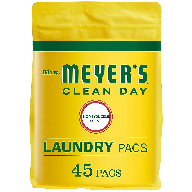 Mrs. Meyer's Laundry Pacs, Honeysuckle, 45 CT