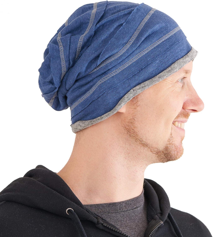 Puro Lino Beanie Berretto Cappello Naturale Tessuto Uomo Donna Largo Cappello A Tesa Larga Charm Casualbox