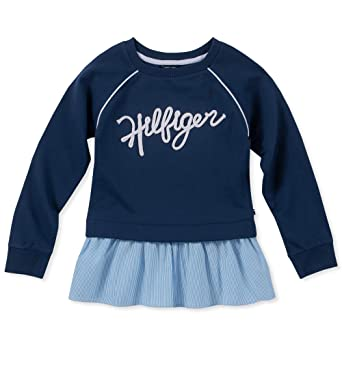 9225c1b8f3d Amazon.com  Tommy Hilfiger Big Girls  Th85 Mixed Media Top  Clothing