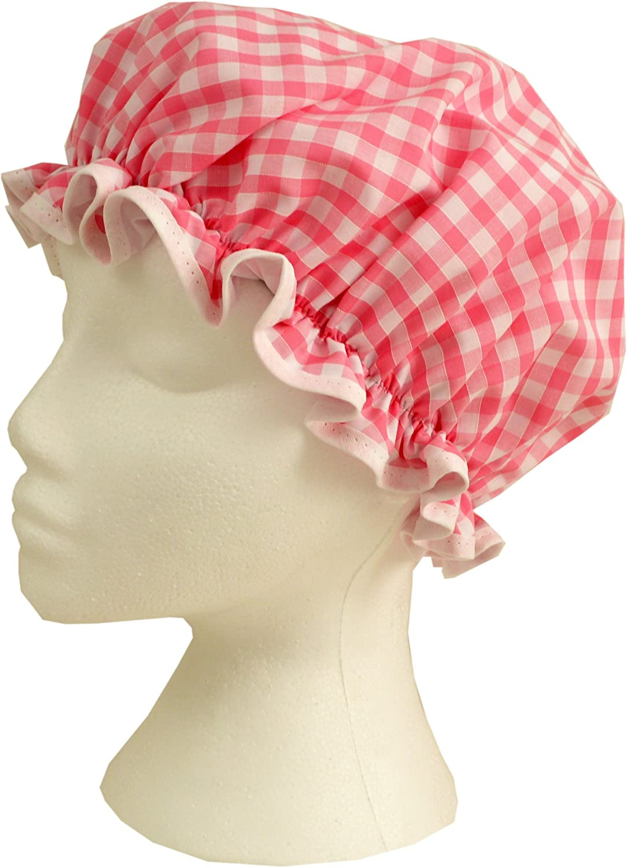 Vagabond Bags Bonnet de douche Motif vichy Rose Vagabond Bags Ltd 1498
