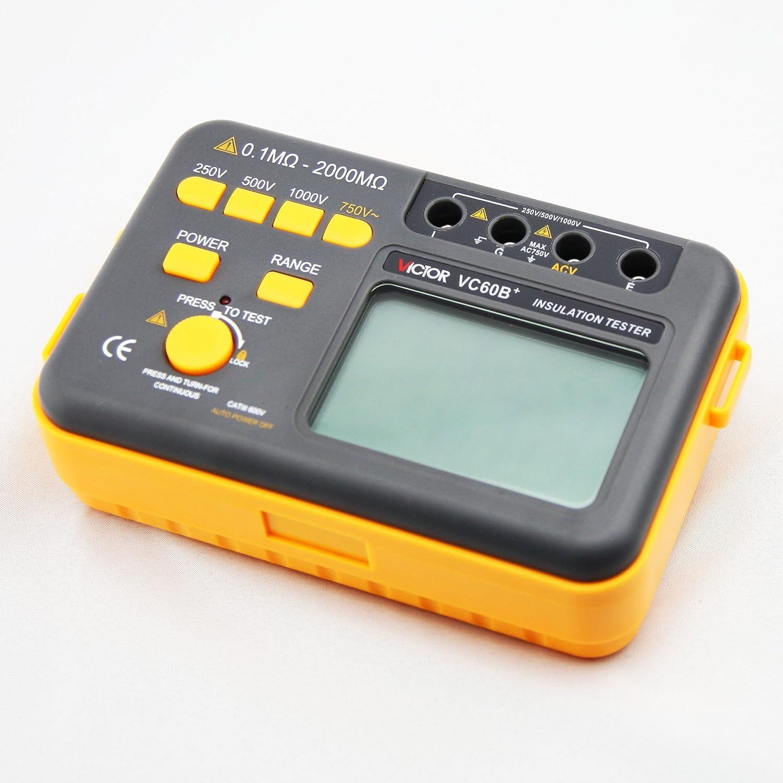Victor Vc60b Digital Insulation Resistance Tester Megger Megohm Lcr Bridge Ebay Meter Dc250 500 1000v Ac750v 012000m Diy Tools