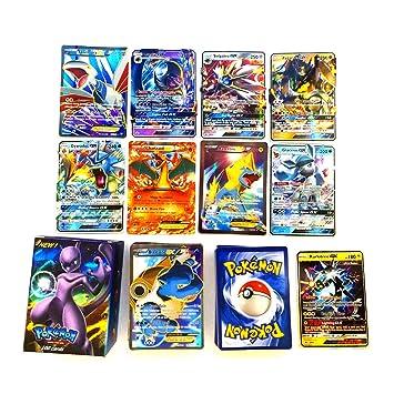 kfghjdg 100 Piezas Pokemon Tarjetas (80EX+20GX), Pokemon EX ...