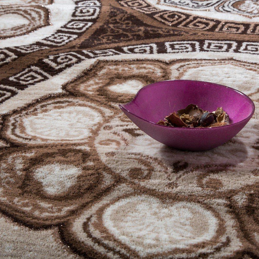 Paco Home Home Home Designer Teppich Klassische Kreis Ornamente Braun Ausverkauf, Grösse 200x280 cm d1362f