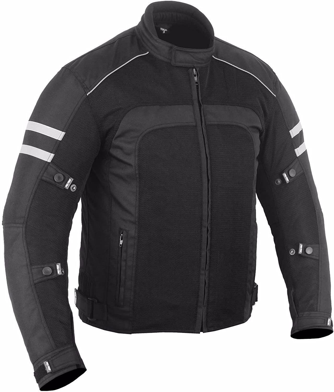 Full Black PROFIRST Summer Hot Weather Motorbike Motorcyle Jacket Coat CE Armour