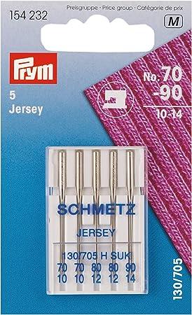 Prym 154232 Máquina de Coser Jersey 70 – 90, 130/705, 5 Unidades ...