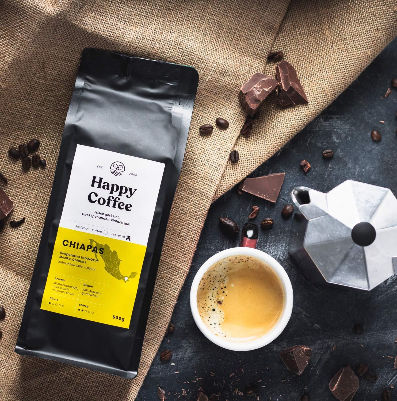 HAPPY COFFEE Bio Espressobohnen