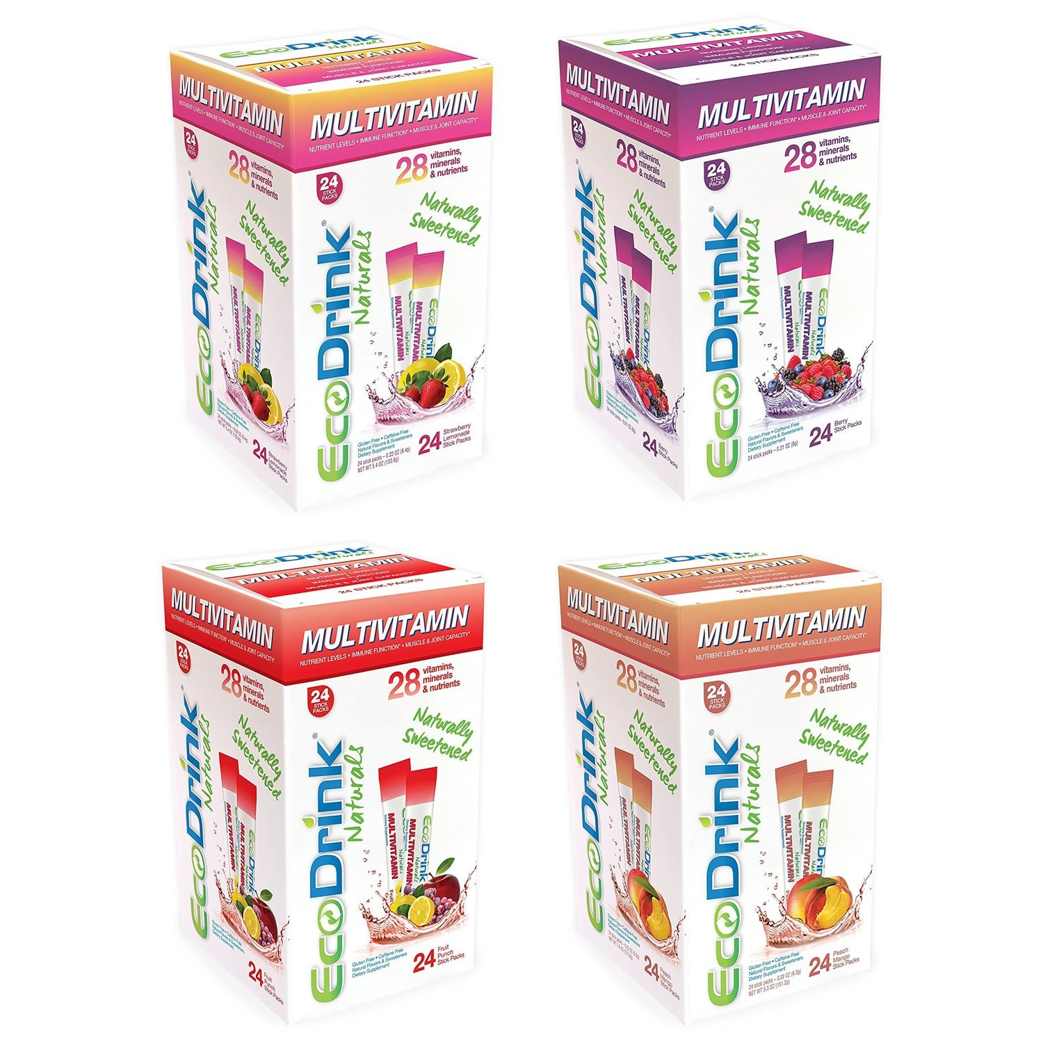 Eco-Drink Bulk Variety Pack  4 Flavors   96 Packets