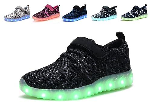49c7c9fdef94f Amazon.com | Denater LED Light Up Shoes Kids Girls Boys Breathable ...
