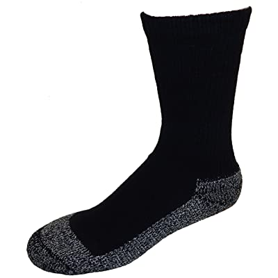 .com : Cushees Men's Black (3-Pack) Triple Thick Crew Socks [160] (Large) : Clothing
