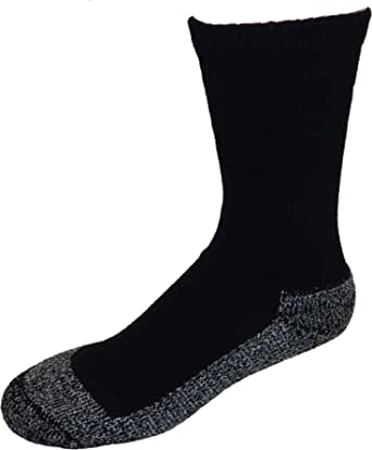 Cushees Men's BLACK Triple Thick Crew Socks (3-pack) [160] (Large)