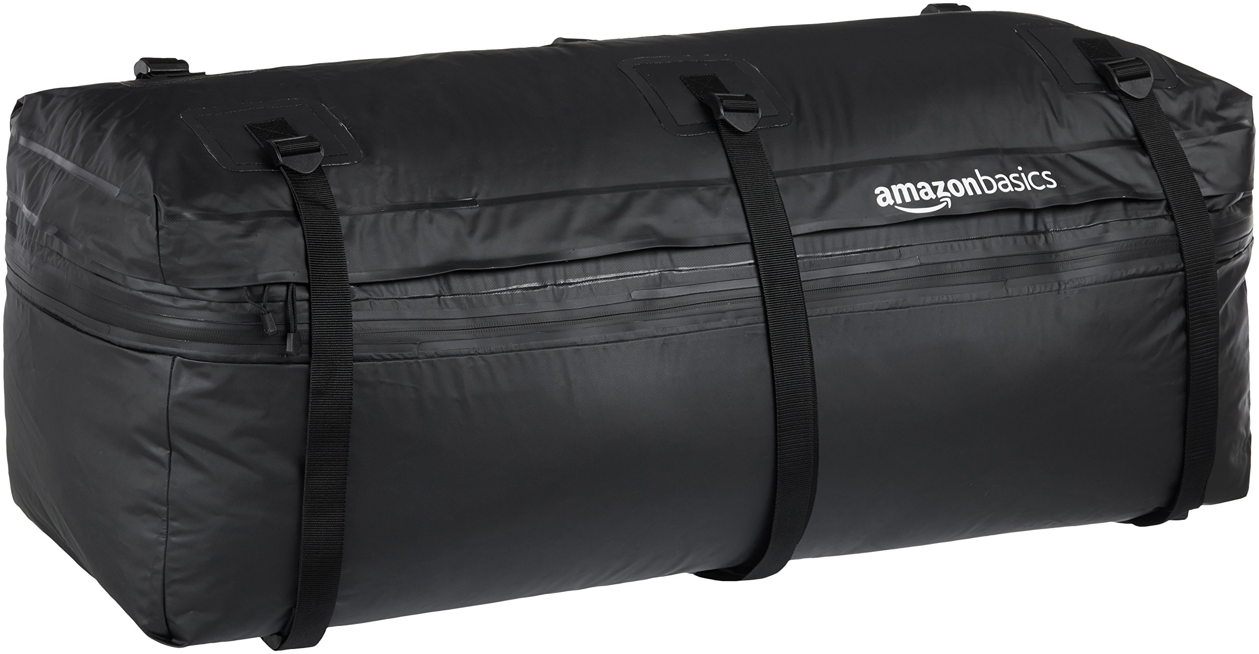 AmazonBasics Expandable Hitch Rack Cargo Carrier Bag, Black, 9.5 cu. ft. expandable to 11.5 cu. ft. by AmazonBasics