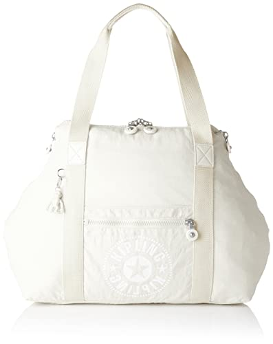 34afd9fa942a81 Amazon.com: Kipling ART M Canvas & Beach Tote Bag, 58 cm, 26 liters, White ( Lively White): Amazon Global Store UK