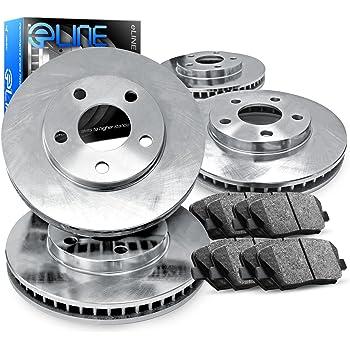 Acura RDX 2007-2009 Brake Rotors FULL KIT ELINE DRILLED SLOTTED /& PADS