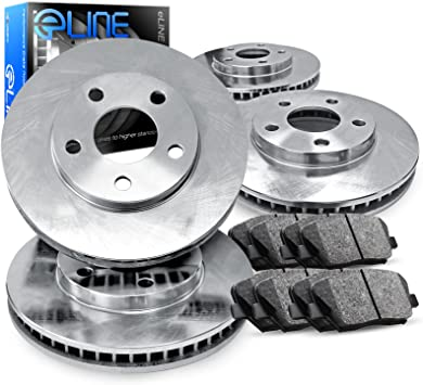 Front 256 mm 4 Lug OE Brake Disc Rotors And Ceramic Pads Kit For Elantra Sonata