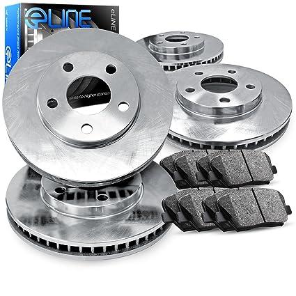 REARS Power Sport Plain Replacement Brake Rotors and Ceramic Brake Pads Kit 81647