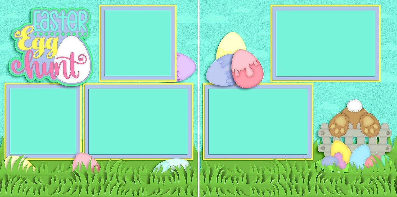 Easter Egg Hunt Premade Scrapbook Pages EZ Layout 4164