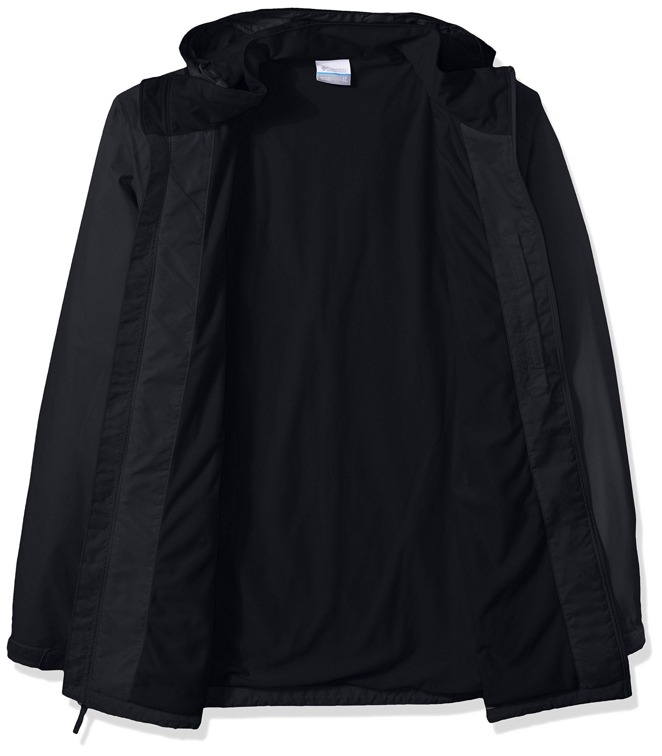 Columbia Men's Big and Tall Glennaker Lake Lined Rain Jacket, Black, 3XT by Columbia (Image #2)