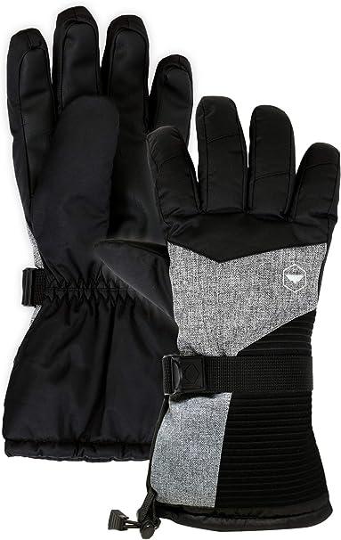 Ski Gloves,HiCool Winter Snow Waterproof Insulated Warm Snowboard Gloves for Men