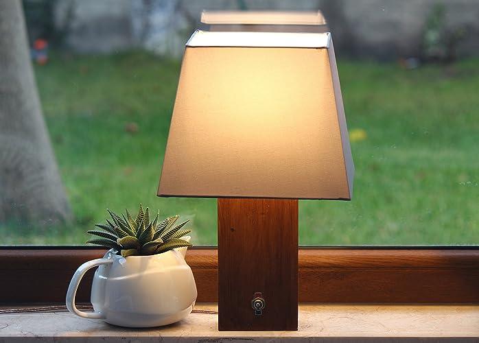 Amazon Com Wood Table Lamp Wooden Lamp Lighting Handmade Desk