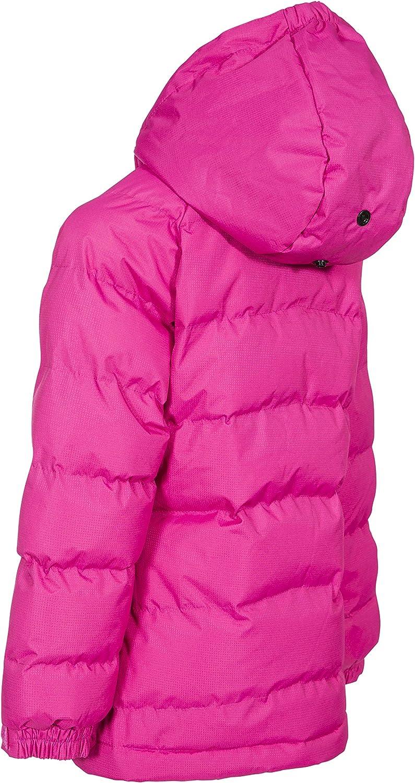 Trespass Amira Chaqueta de invierno acolchada e impermeable con capucha desmontable Beb/é-Ni/ños